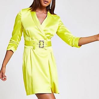 River Island Womens Yellow belted blazer dress
