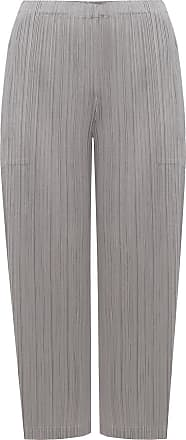 Issey Miyake Pleated Trousers Womens Grey