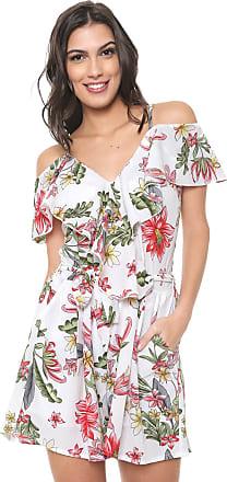 Lily Fashion Macaquinho Ciganinha Lily Fashion Amarração Branco/Verde