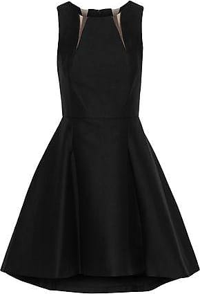 35bda5d527d2 Halston Heritage Halston Heritage Woman Tulle-trimmed Cotton And Silk-blend  Mini Dress Black