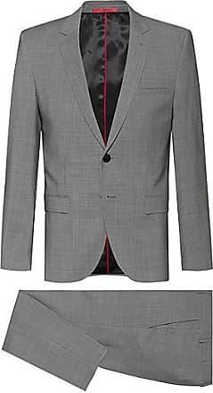HUGO BOSS Extra Slim-Fit Anzug aus Schurwolle mit feinem Hahnentritt-Muster