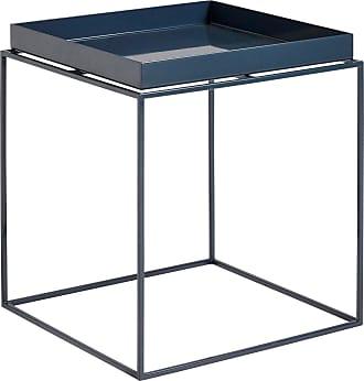 HAY Tray Beistelltisch hochglänzend M - tiefes blau/pulverbeschichtet/LxBxH 40x40x44cm