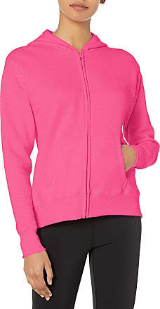 Hanes Womens Fleece Full-Zip Hood Jacket, Jazzberry Pink Heather, Medium