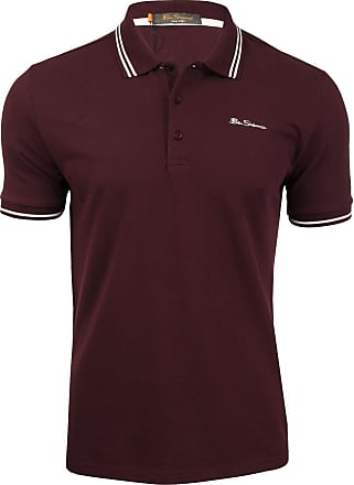 Ben Sherman Mens Ben Sherman Dark Red Embroidered Logo Twin Tipped Polo Shirt - 048520 (XXXXL)