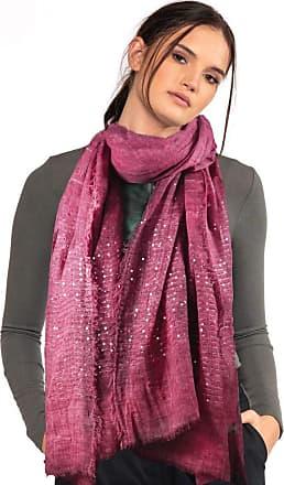 TOSKATOK Ladies Womens Sparkle Sequin Glitter Pattern Lightweight Fashion Scarf Scarves-PINK
