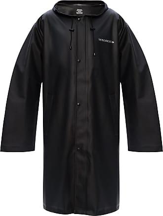 VETEMENTS Logo Raincoat Mens Black