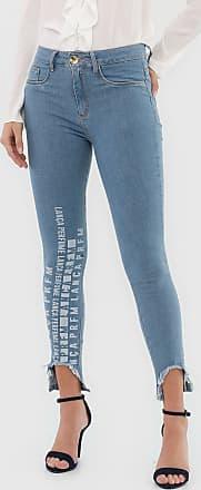 Lança Perfume Calça Jeans Lança Perfume Skinny Cropped Diana Azul