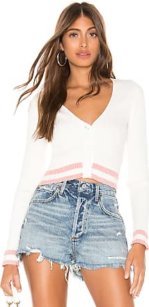 Superdown Nichole Cropped Sweater in White