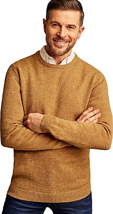 WoolOvers Mens Lambswool Crew Neck Jumper Masala, L
