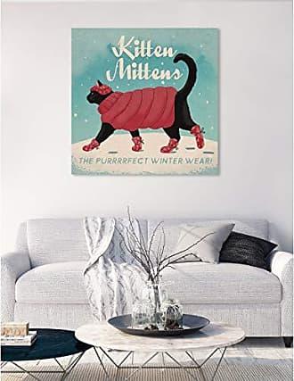 The Oliver Gal Artist Co. The Oliver Gal Artist Co. Animals Wall Art Canvas Prints Kitten Mittens Home Décor, 36 x 36, Blue, Pink