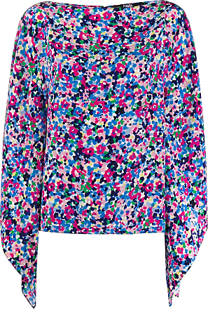 Karl Lagerfeld floral print silk top - Blue