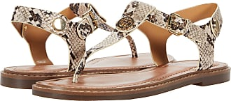 Tommy Hilfiger Corporate Leather Flat Sandal Bout Ouvert Femme