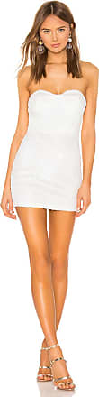 Superdown Sandra Strapless Dress in White