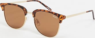 Quay Quay evasive retro style sunglasses in tortoise shell-Brown