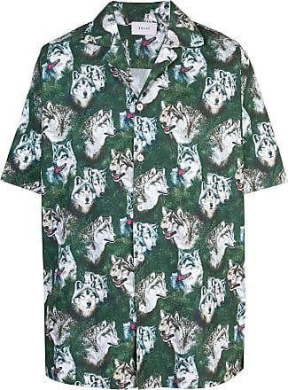 Rhude Camisa com estampa de lobo - Verde