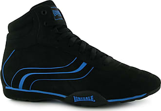Lonsdale Mens Camden Mid Trainers Lace Up Stitched Detailing Textured Black/Blue2 UK 11 (46)