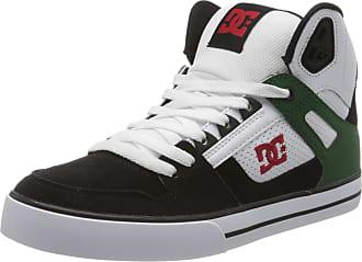 DC Mens Pure High-top Wc Skateboarding Shoes, White (White/Green/Black Tgb), 10.5 UK