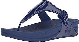 FitFlop Womens Superjelly Flip Flop, Mazarine Blue, 9 M US