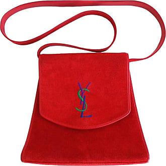 21c41c50de Saint Laurent 1980s Yves Saint Laurent ysl Red Suede Bag