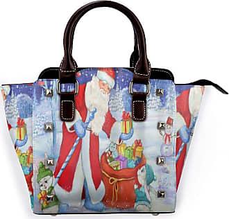 Browncin Merry Christmas Santa Claus Snowman Rabbit Snow Snowflake Xmas Tree Detachable Fashion Trend Ladies Handbag Shoulder Bag Messenger Bags