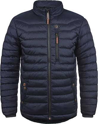 Blend Cemalo Mens Quilted Jacket Puffer Jacket Padded Jacket with Funnel Neck, Size:S, Colour:Navy (70230)