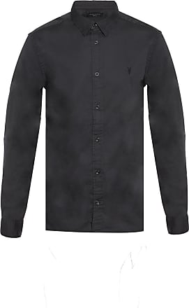 Allsaints Redondo Logo-embroidered Shirt Mens Multicolor