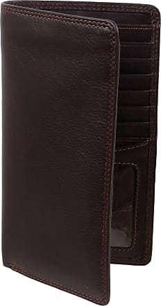 Visconti Mens Quality Slim LEATHER Suit WALLET by Visconti Gift Boxed Jacket