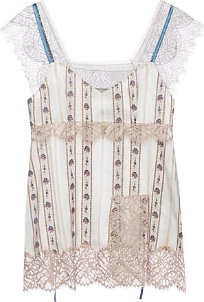 Lanvin Embroidered Silk Top Womens Multicolour