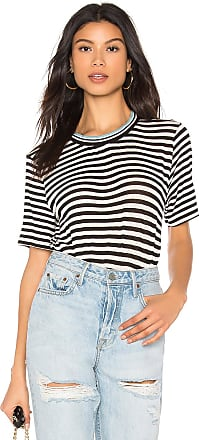 Splendid Striped Tee in Black