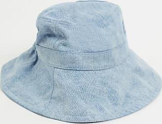 Monki Daisy - Cappello da pescatore di jeans azzurro con laccetti-Blu