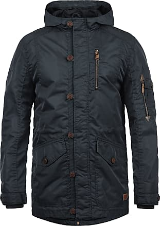 Blend Luxus Mens Parka Outdoor Jacket with Hood, Size:M, Colour:Navy (70230)