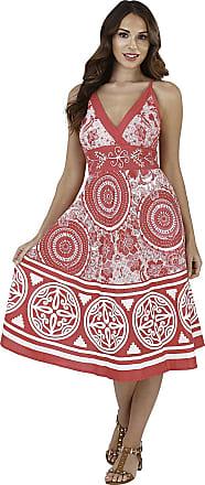 Lora Dora Womens Summer Dress V Neck Circle Floral Pink Size Large