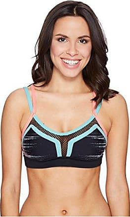 Trina Turk Recreation Womens Color Blocked Sports Bra