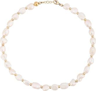Nialaya freshwater pearl necklace - White