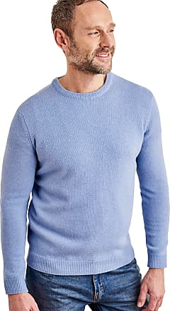 WoolOvers Mens Lambswool Crew Neck Jumper Iceberg Marl, L