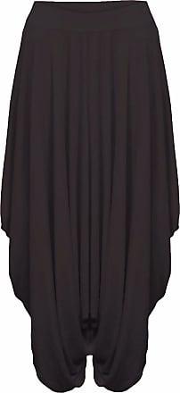 Islander Fashions Womens Legenlook Ali Baba Baggy Trouser Ladies Party Wear Plain Hareem Pants Black XX Large UK 20-22