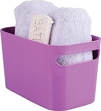 InterDesign Una Bathroom Vanity Organizer Bin for Health and Beauty Products/Supplies, Lotion, Perfume - 10 x 6 x 6, Purple