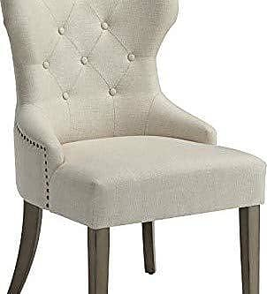 Coaster Fine Furniture Florence Upholstered Dining Chair with Tufted Back Beige and Brown