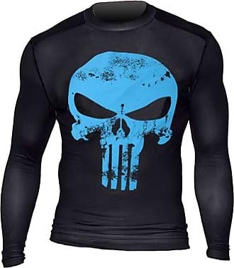 YiJee Mens Running T-Shirt Cool Quick Dry Skin Fit Tops Long Sleeve Elastic Compression T-Shirt Blue L