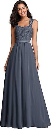 Ever-pretty Womens Sleeveless Square Neck A Line Long Empire Waist Bridesmaid Dresses Denim Blue 10 UK