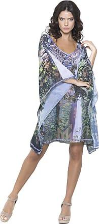 19da43ef4e 101 Resort Wear Vestido Kaftan 101 Resort Wear Decote V Estampado Floresta