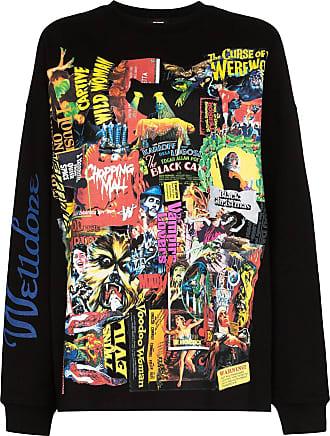 We11done Sweatshirt mit Horror-Print - Schwarz