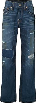 True Religion Calça jeans com detalhe puído - Azul