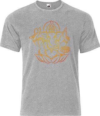 Gildan Ganesha Hindu Ganapati Vinayaka Mens Tee Shirt Top - Grey - 20 inches - Large