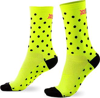 Hupi Meia Hupi amarelo neon dots
