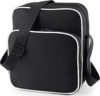 BagBase Bagbase Retro Day Bag in black and white