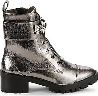 Karl Lagerfeld Prim Embellished Faux Leather Booties