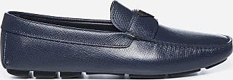 Prada Logo-plaque Saffiano leather loafers - PRADA - man