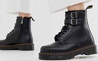 Dr. Martens chunky buckle boots in black leather