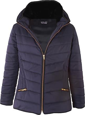 Love my Fashions Haylie Zipped Pocket Padded Jacket Navy Blue